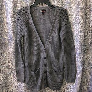 JJ basics grey cardigan